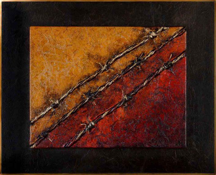 Auschwitz - scultura su tela - Sandra Marcelloni